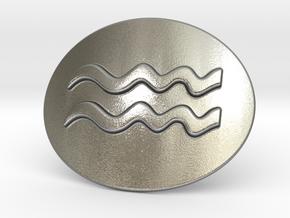 Acquarius Belt Buckle in Natural Silver