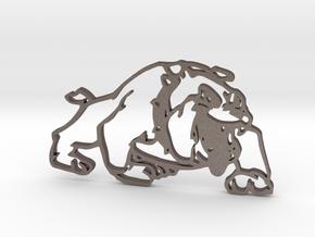 Mini Dog in Polished Bronzed Silver Steel