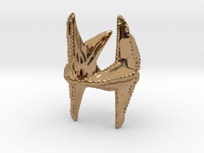 Starfish napkin holder in Polished Brass