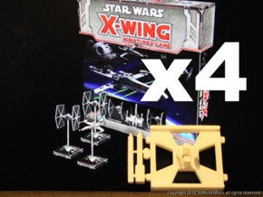 X-Wing Gaming Base (Small), 4 Bases in Yellow Processed Versatile Plastic