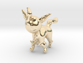 Leafeon in 14k Gold Plated Brass