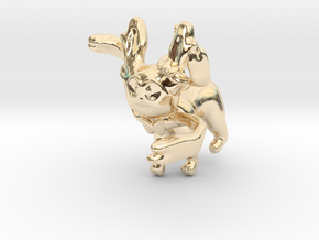 Sylveon in 14k Gold Plated Brass