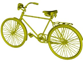 1/24 scale WWII Wehrmacht M30 bicycle x 1 in Smooth Fine Detail Plastic