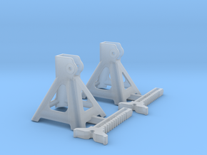 1/16 Jack Stand Pair in Smooth Fine Detail Plastic