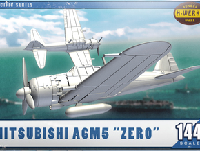 "1/144th - Mitsubishi A6M5 ""Zero"" in Smooth Fine Detail Plastic"