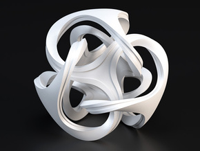 Ora Sculpture 10cm in White Processed Versatile Plastic