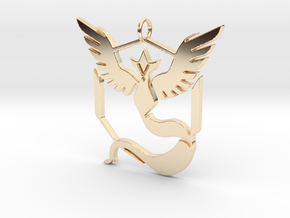 Pokemon GO: Team Mystic Pendant in 14k Gold Plated Brass