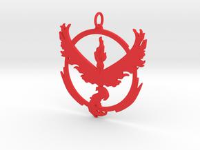 Team Valor Pendant - Pokemon Go - Moltres in Red Processed Versatile Plastic