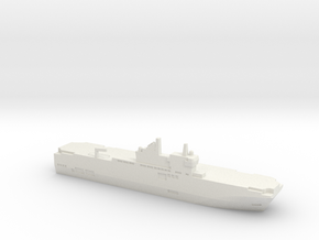 Mistral-class LHD, 1/3000 in White Natural Versatile Plastic