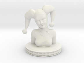 Harley Quinn Bust in White Strong & Flexible
