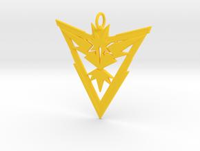 Team Instinct Pendant - Pokemon Go - Zapdos in Yellow Processed Versatile Plastic