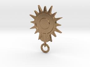 Blacksun Fan Keychain in Natural Brass
