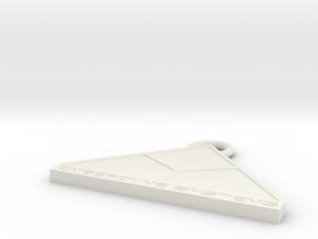 Cyberdine Systems Fan Keychain in White Natural Versatile Plastic