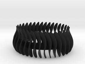 Duo-armband-helft / Duo bracelet halve in Black Natural Versatile Plastic: Medium