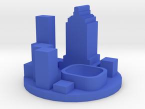 Game Piece, Modern City Token in Blue Processed Versatile Plastic