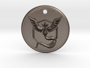 Team Mystic Pendant- Pokemon Go in Polished Bronzed Silver Steel