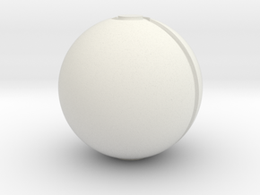 Small Pokeball in White Natural Versatile Plastic