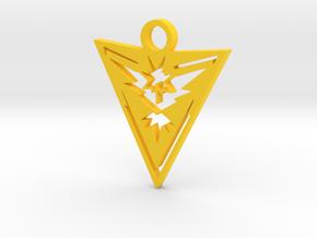 Team Instinct Keychain - Pokemon GO in Yellow Processed Versatile Plastic