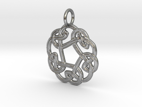 Celtic Circle Knot Pendant (small) in Natural Silver