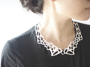 Lace Necklace in White Processed Versatile Plastic