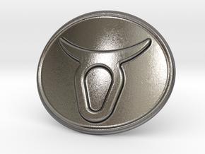 Taurus Belt Buckle in Polished Nickel Steel