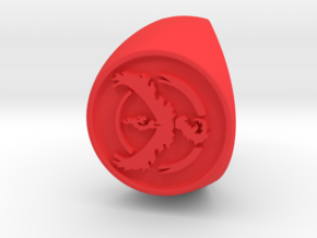 Team Valor Signet US 10 in Red Strong & Flexible Polished