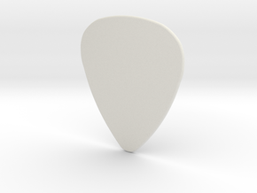 Basic 1mm Guitar Plectrum in White Natural Versatile Plastic