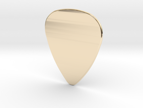 Basic 1mm Guitar Plectrum in 14K Yellow Gold