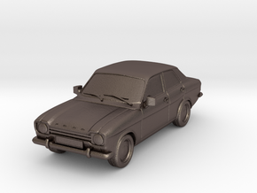 1:87 Escort mk1 4 door v1 hollow in Polished Bronzed Silver Steel