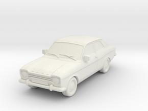 1:87 Escort mk1 2 door v1 hollow in White Natural Versatile Plastic