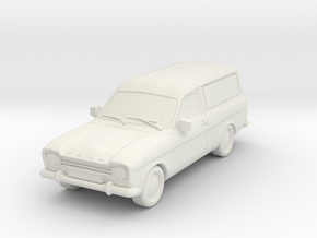 1:87 Escort mk1 van v1 hollow in White Natural Versatile Plastic