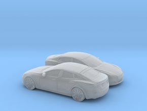 1/160 2X 2012-16 Tesla Model S in Smooth Fine Detail Plastic