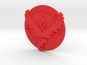 Pokemon Go Team Valor Badge in Red Strong & Flexible Polished