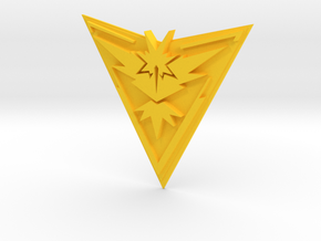 Pokemon Go Team Instinct Badge in Yellow Processed Versatile Plastic