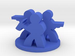 Game Piece, Zombie Survivor Group in Blue Processed Versatile Plastic