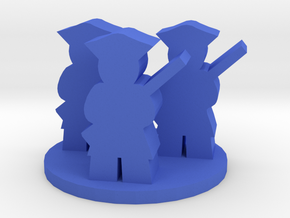 Game Piece, Colonial American Unit in Blue Processed Versatile Plastic