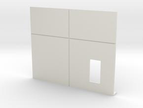 Personnel Door; Right in White Natural Versatile Plastic