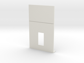 Personnel Door #2 in White Natural Versatile Plastic