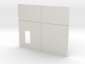 Personnel Door; Left Side in White Natural Versatile Plastic
