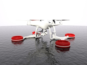 Triskel - SAR Floating System for DJI Phantom 4 in White Strong & Flexible