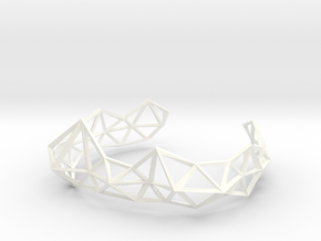Wireframe Tiara in White Strong & Flexible Polished