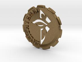 Ingress Enlightened Challenge Coin in Natural Bronze