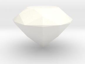 Gem (from Crash Bandicoot) in White Processed Versatile Plastic