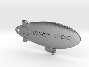 ZMC-2 Navy Blimp Keyfob in Polished Silver