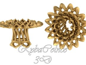 Plugs The Chrysanthemum / gauge / size 0g (8mm) in Polished Gold Steel