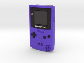 1:6 Nintendo Game Boy Color (Grape) in Full Color Sandstone