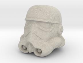 Storm Trooper Helmet  in Natural Sandstone