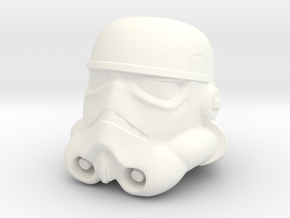Storm Trooper Helmet  in White Strong & Flexible Polished