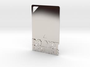 Credit Card DND in Platinum