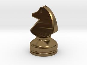 MILOSAURUS Chess MINI Staunton Knight in Polished Bronze